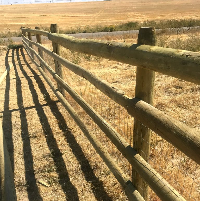 Treated Split Ranch Rail with Welded Wire